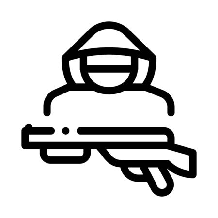 animal poacher icon vector. animal poacher sign. isolated contour symbol illustration 向量圖像