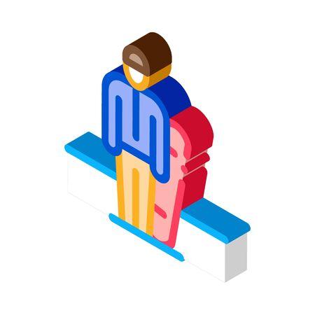 snowboarder sportsman icon vector. isometric snowboarder sportsman sign. color isolated symbol illustration
