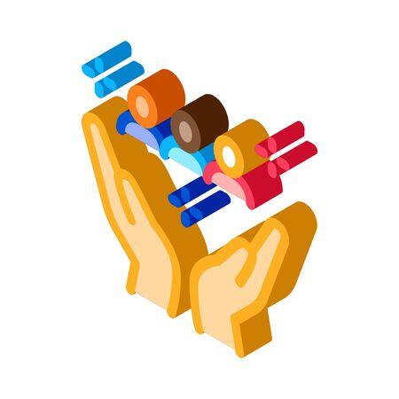 interracial idyllic icon vector. isometric interracial idyllic sign. color isolated symbol illustration Ilustração