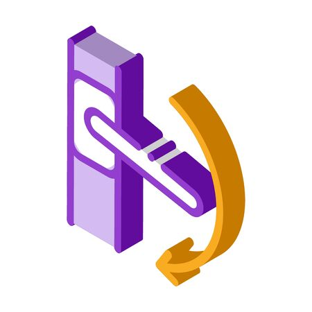 push handle to open window closure icon vector. isometric push handle to open window closure sign. color isolated symbol illustration 向量圖像