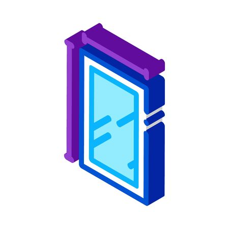 window dimensions icon vector. isometric window dimensions sign. color isolated symbol illustration 向量圖像