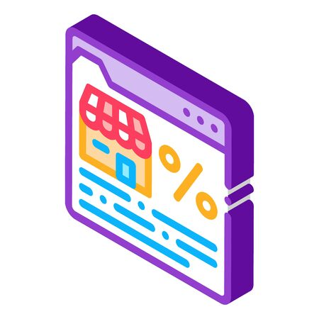 franchise web site icon vector. isometric franchise web site sign. color isolated symbol illustration