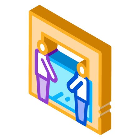 freight movers hold glass icon vector. isometric freight movers hold glass sign. color isolated symbol illustration