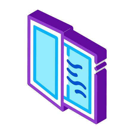 draft in window icon vector. isometric draft in window sign. color isolated symbol illustration