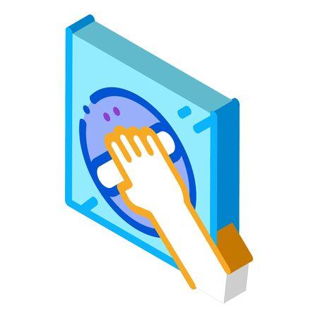 window control handle icon vector. isometric window control handle sign. color isolated symbol illustration