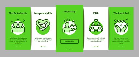 Racism Discrimination Onboarding Mobile App Page Screen Vector. Stop Racism Nameplate And Label, Scale And Loudspeaker, Pigeon And Handshake Color Illustrations
