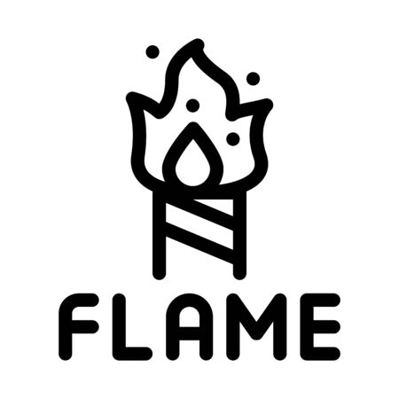 firework flame icon vector. firework flame sign. isolated contour symbol illustration 向量圖像