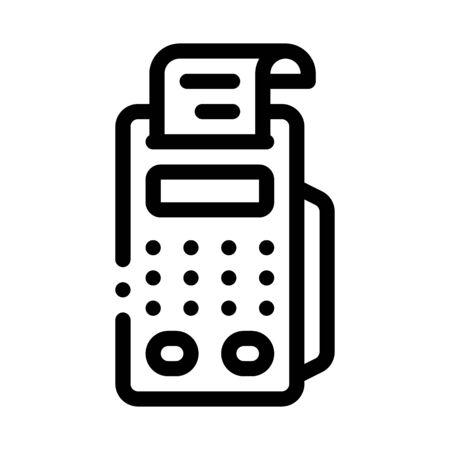 pos terminal print receipt icon vector. pos terminal print receipt sign. isolated contour symbol illustration
