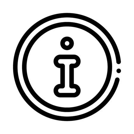 webshop information icon vector. webshop information sign. isolated contour symbol illustration