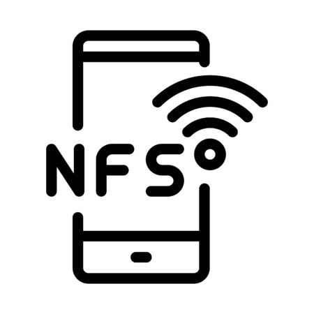 smartphone nfc payment app icon vector. smartphone nfc payment app sign. isolated contour symbol illustration