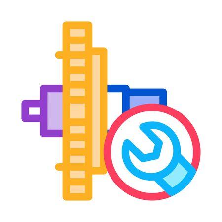 watch gear repair icon vector. watch gear repair sign. color symbol illustration