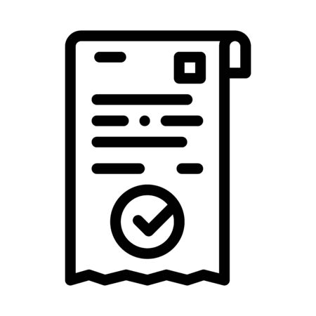 payment receipt icon vector. payment receipt sign. isolated contour symbol illustration 일러스트