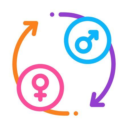 circle arrows icon vector. circle arrows sign. color symbol illustration