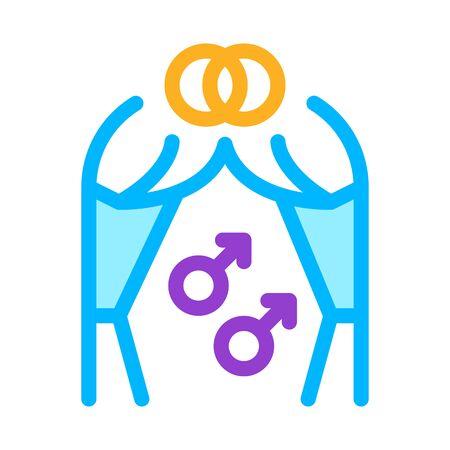 gay marriage icon vector. gay marriage sign. color symbol illustration Ilustracja