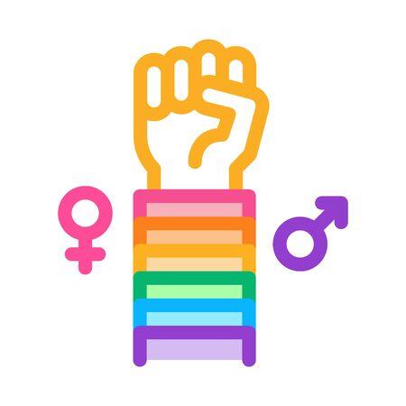 lgbt human hand gesture icon vector. lgbt human hand gesture sign. color symbol illustration