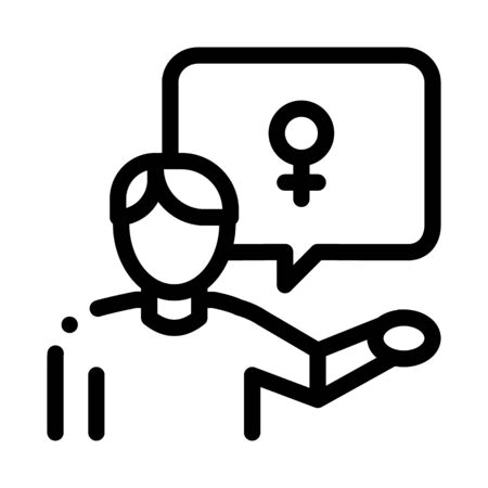 man talking about gay icon vector. man talking about gay sign. isolated contour symbol illustration