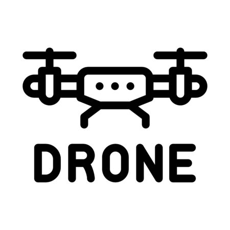 drone fly toy machine icon vector. drone fly toy machine sign. isolated contour symbol illustration