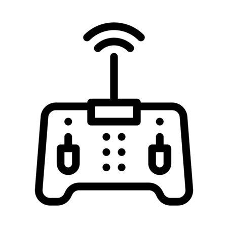 drone remote control icon vector. drone remote control sign. isolated contour symbol illustration