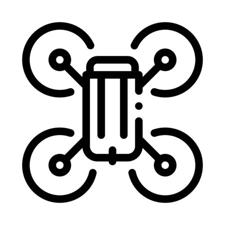 drone flying toy icon vector. drone flying toy sign. isolated contour symbol illustration