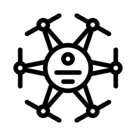 drone electronic air toy icon vector. drone electronic air toy sign. isolated contour symbol illustration