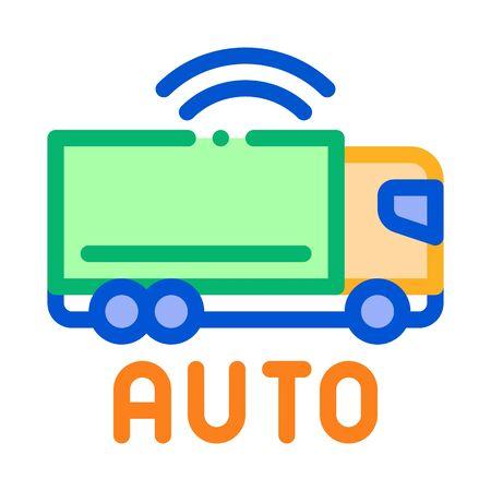 electro auto truck icon vector. electro auto truck sign. color symbol illustration