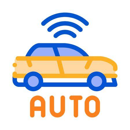 electro auto car icon vector. electro auto car sign. color symbol illustration
