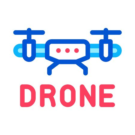 drone fly toy machine icon vector. drone fly toy machine sign. color symbol illustration
