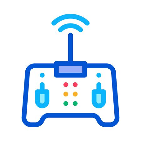 drone remote control icon vector. drone remote control sign. color symbol illustration