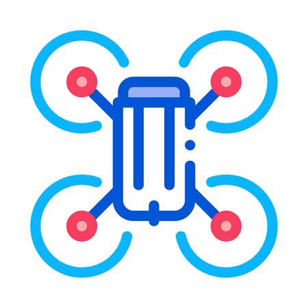 drone flying toy icon vector. drone flying toy sign. color symbol illustration