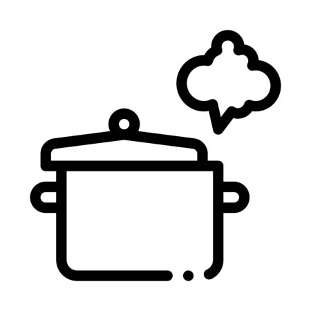 cooking odor icon vector. cooking odor sign. isolated contour symbol illustration Ilustracja