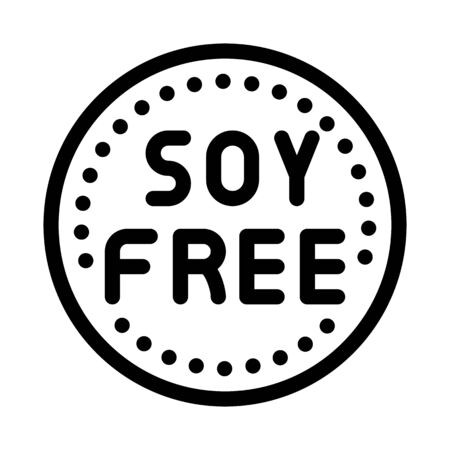 soy free sign icon vector. soy free sign sign. isolated contour symbol illustration