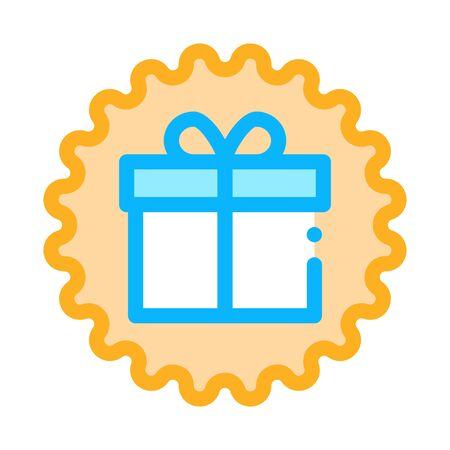 webshop gift icon vector. webshop gift sign. color symbol illustration