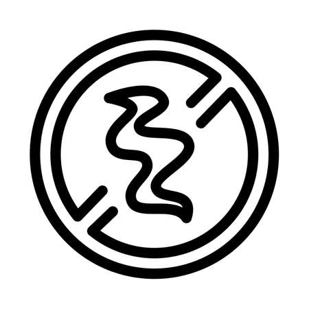 smoke crossed out sign icon vector. smoke crossed out sign sign. isolated contour symbol illustration