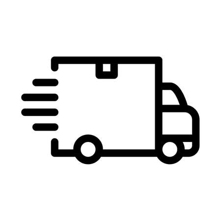 webshop delivery icon vector. webshop delivery sign. isolated contour symbol illustration 向量圖像