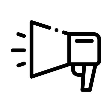 webshop loudspeaker advertising icon vector. webshop loudspeaker advertising sign. isolated contour symbol illustration
