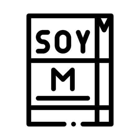 soy milk package icon vector. soy milk package sign. isolated contour symbol illustration Ilustracja