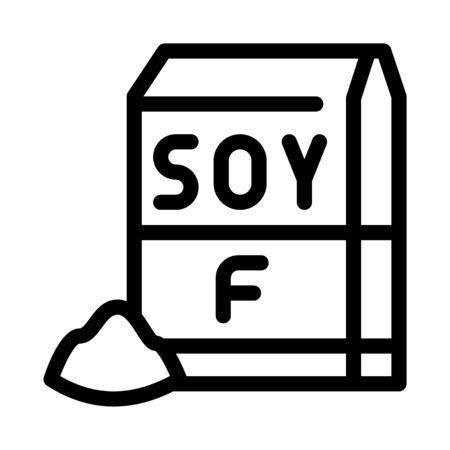 soy flour package icon vector. soy flour package sign. isolated contour symbol illustration Ilustracja