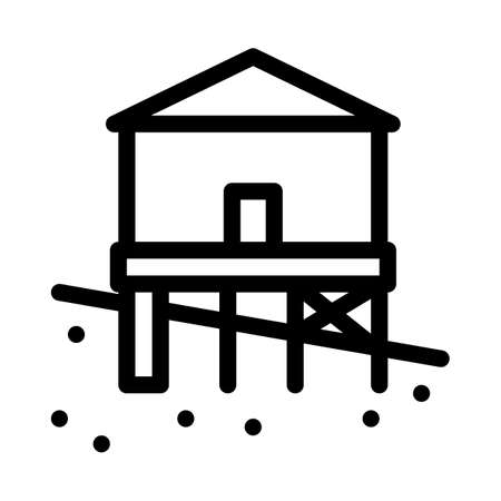 mixed type of built foundation icon vector. mixed type of built foundation sign. isolated contour symbol illustration