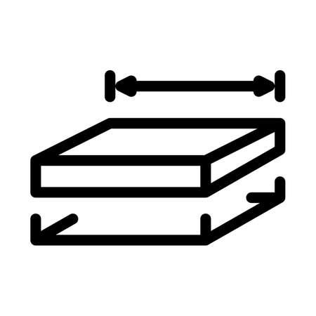 house foundation marking icon vector. house foundation marking sign. isolated contour symbol illustration Иллюстрация