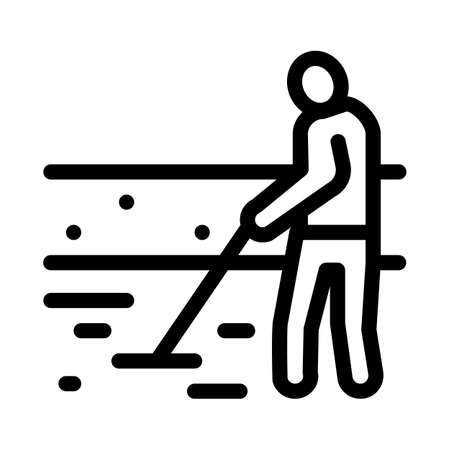 house foundation laying icon vector. house foundation laying sign. isolated contour symbol illustration