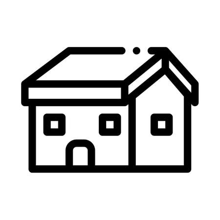 building fixed roof icon vector. building fixed roof sign. isolated contour symbol illustration