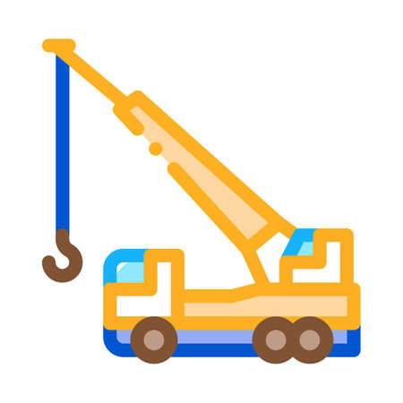 crane hydraulic equipment icon vector. crane hydraulic equipment sign. color symbol illustration