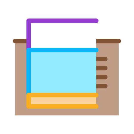 tiled foundation icon vector. tiled foundation sign. color symbol illustration