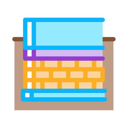 prefabricated foundation icon vector. prefabricated foundation sign. color symbol illustration