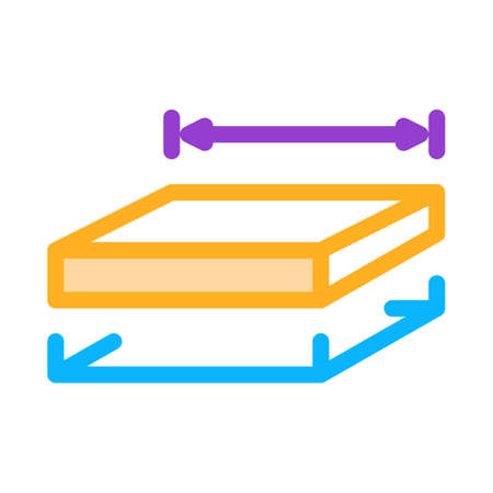 house foundation marking icon vector. house foundation marking sign. color symbol illustration