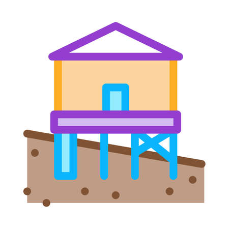 mixed type of built foundation icon vector. mixed type of built foundation sign. color symbol illustration