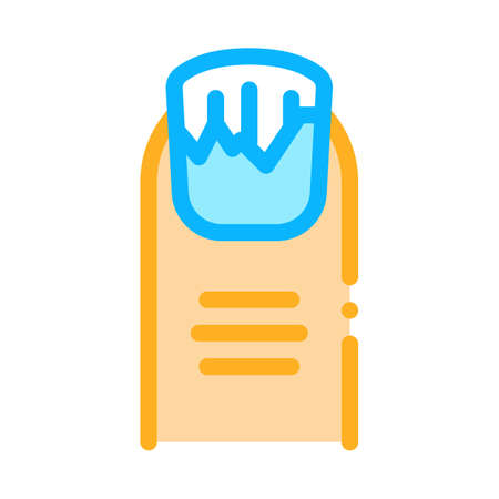 peeling nails icon vector. peeling nails sign. color symbol illustration  イラスト・ベクター素材