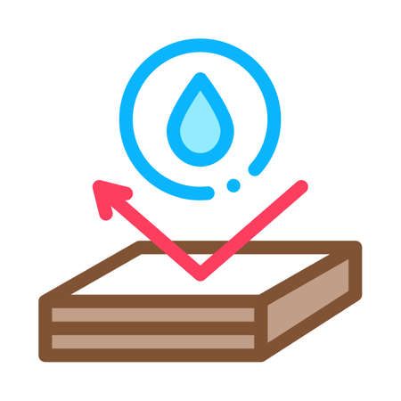 waterproof roof icon vector. waterproof roof sign. color symbol illustration Illustration