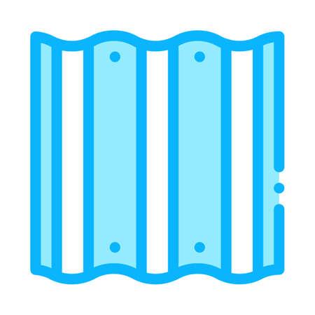 roof metal tile icon vector. roof metal tile sign. color symbol illustration  イラスト・ベクター素材