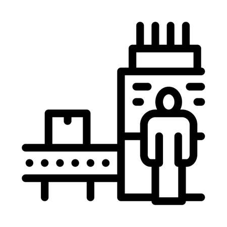 manufacturing machine operator icon vector. manufacturing machine operator sign. isolated contour symbol illustration